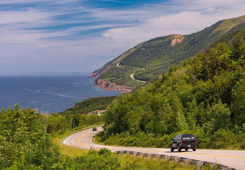 The Cabot Trail on Cape Breton Island in Canada.