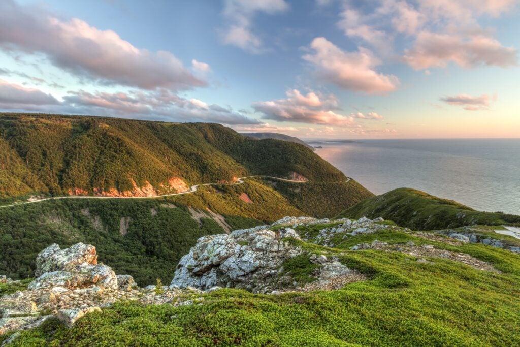 The Cabot Trail on the coast of Nova Scotia.