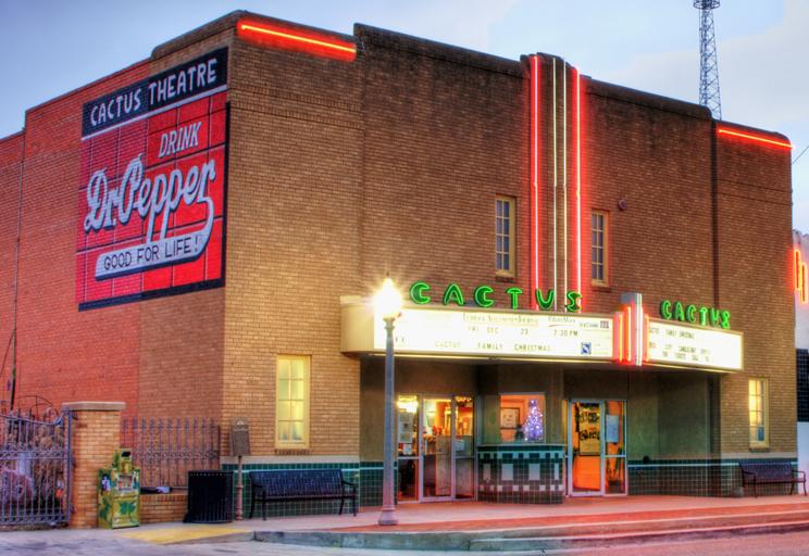 The Cactus Theater in Lubbock, Texas.