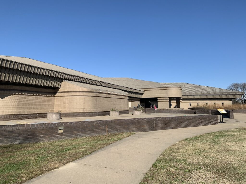 The Cahokia Mounds Visitor Center in Illinois.