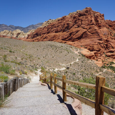 The Calico Hills Trail in Nevada's Red Rock Canyon National Conservation Area.