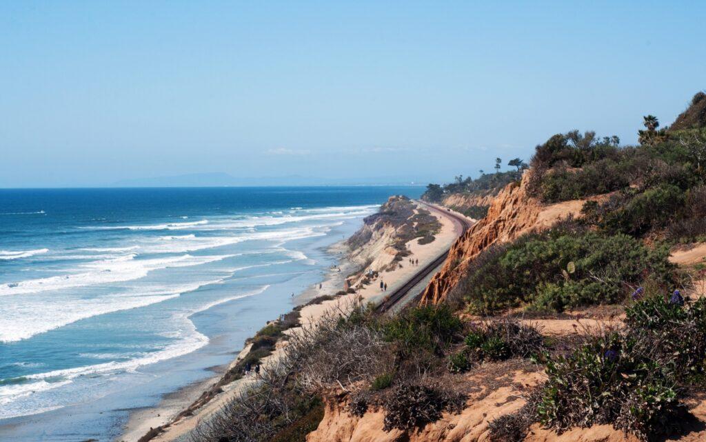 The California coast.