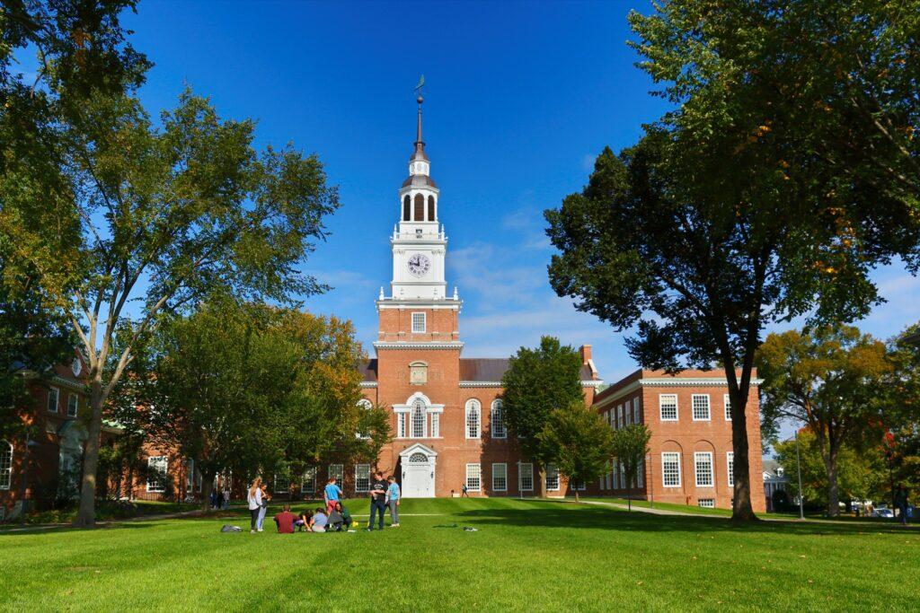 The campus of Dartmouth College.