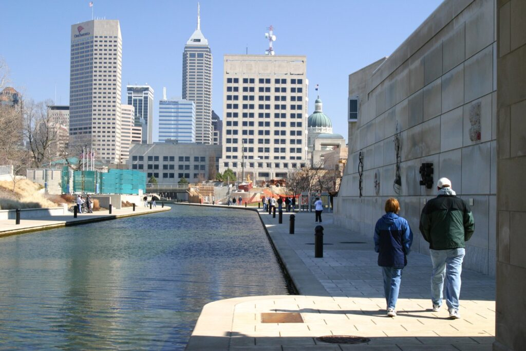 The canal in Indianapolis.