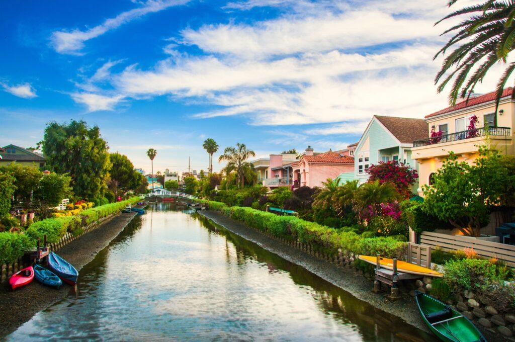 The canals in Venice Beach, Califorina.