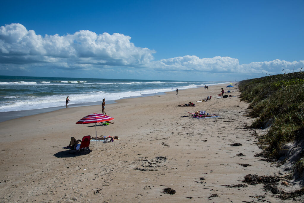The Canaveral National Seashore in Florida.
