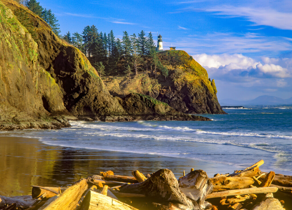 The Cape Disappointment Lighthouse in Washington.