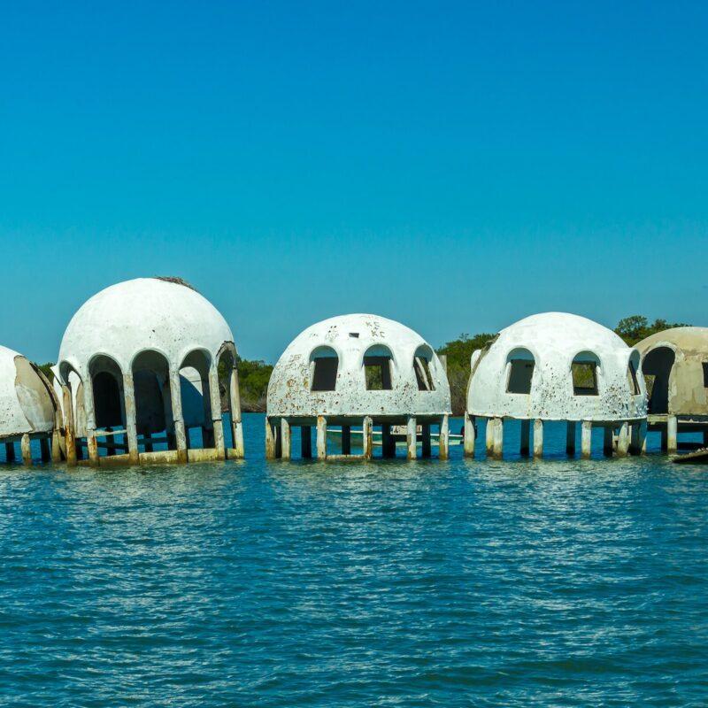 The Cape Romano Dome House near Marco Island.
