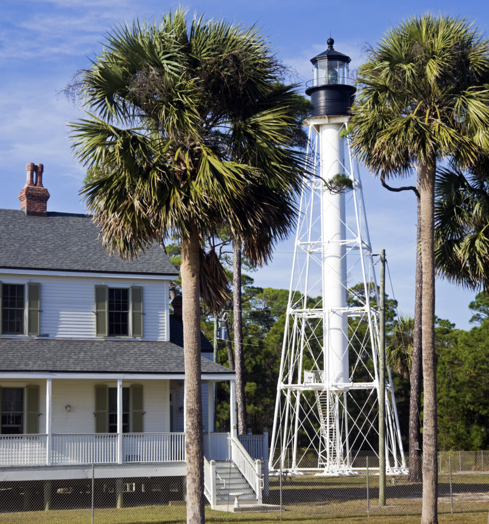 The Cape San Blas Light House in Florida.