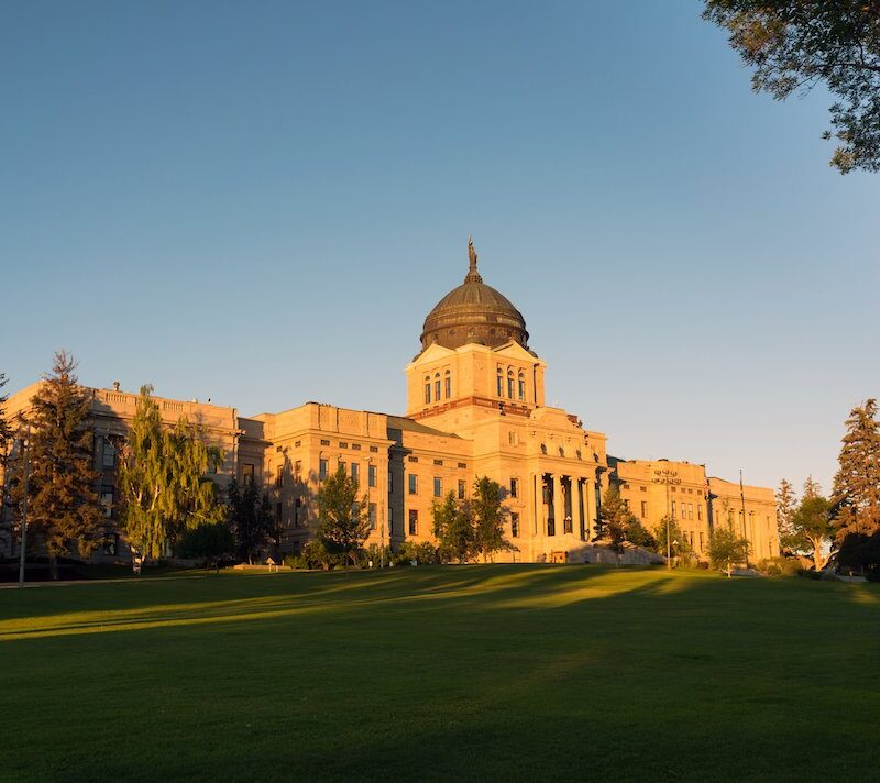 The capitol building in Helena, Montana.