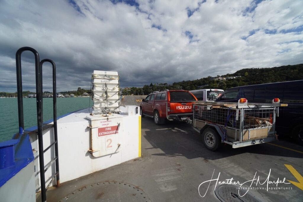 The car ferry between Russell and Opua, New Zealand.