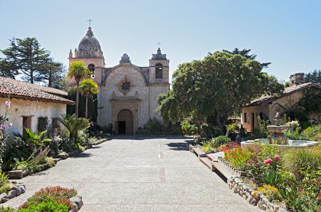 The Carmel Mission in California.