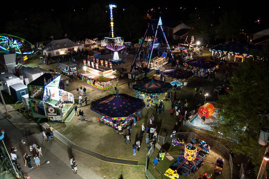 The carnival at the Farmville Dogwood Festival.