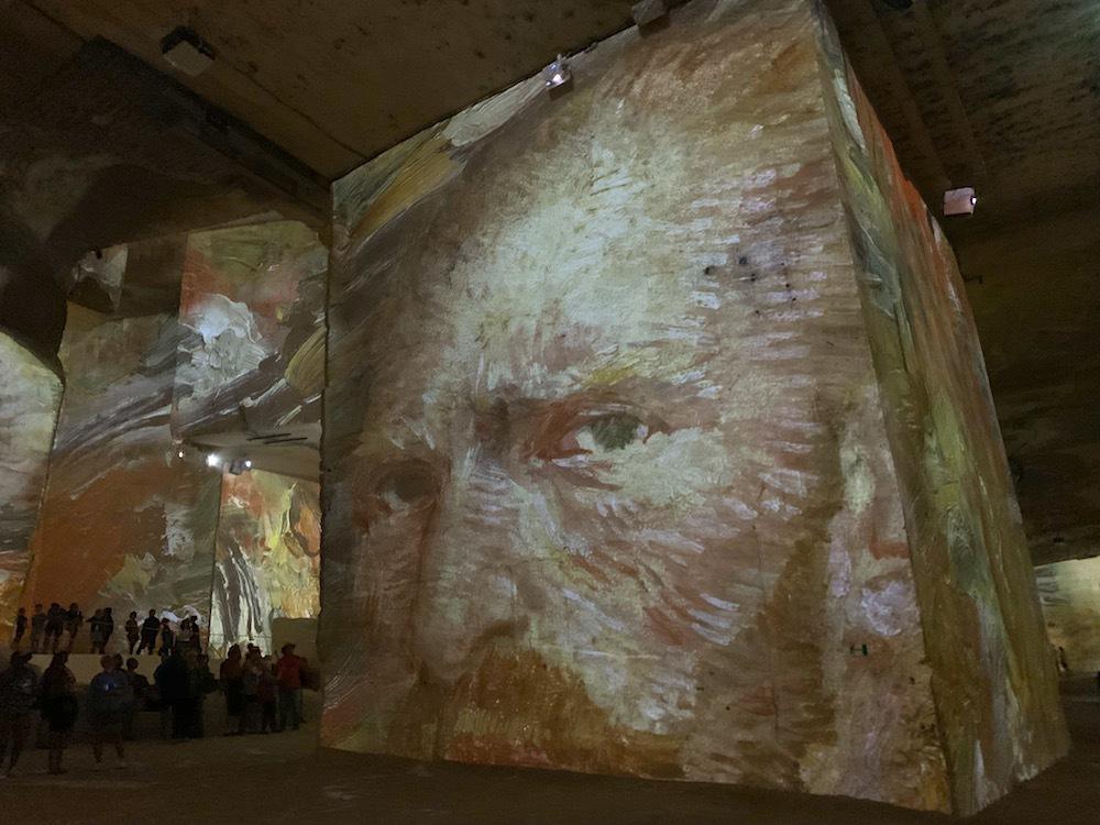 The Carrieres de Lumieres exhibit in Les Baux.
