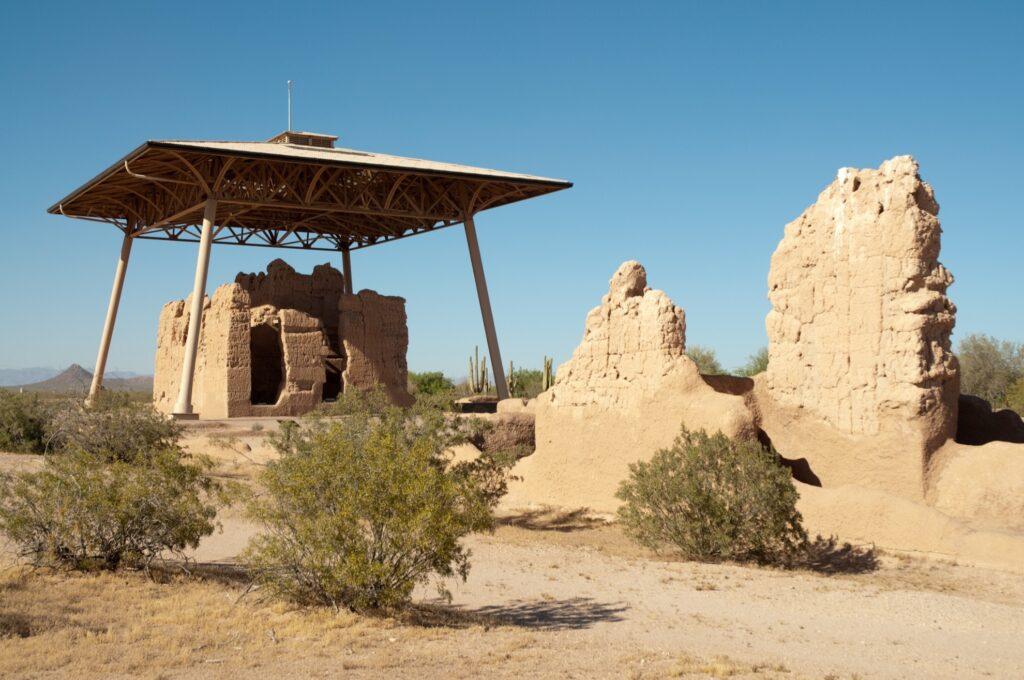 The Casa Grande Ruins National Monument in Arizona.
