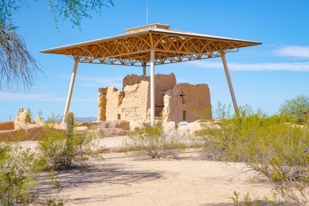 The Casa Grande Ruins National Monument in Coolidge, Arizona.