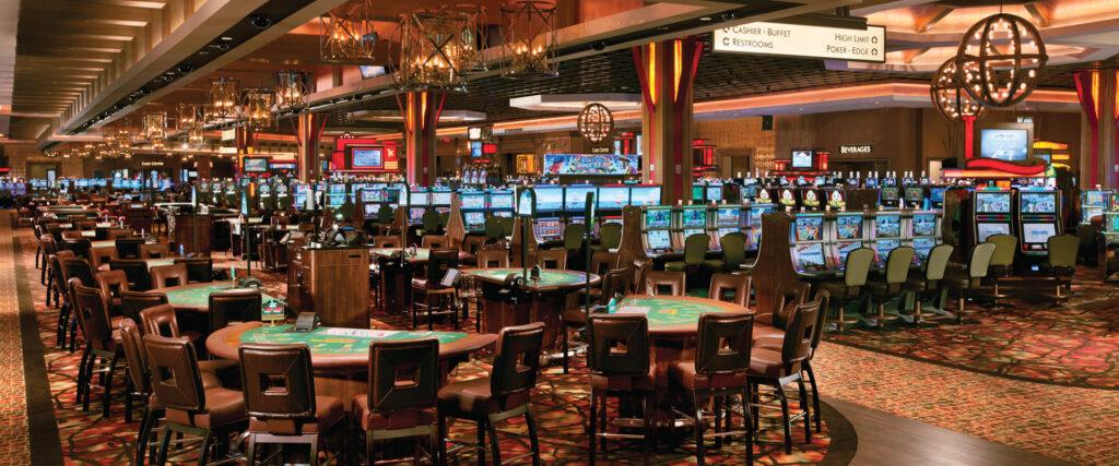 The casino floor at L'Auberge in Baton Rouge.