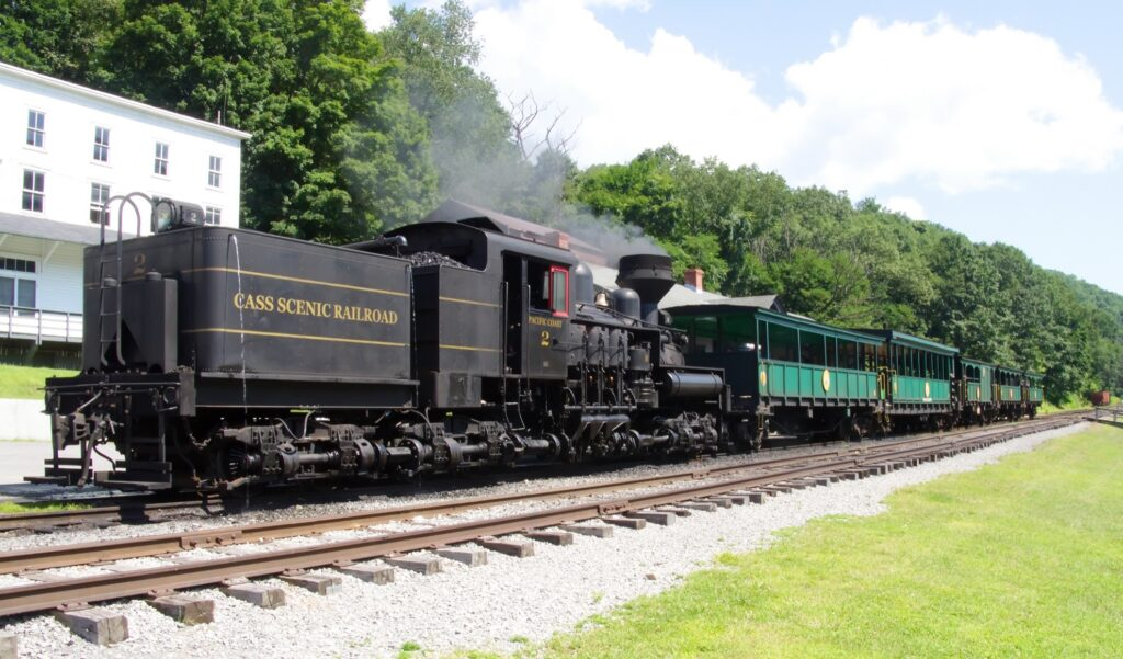 The Cass Scenic Railroad in West Virginia.