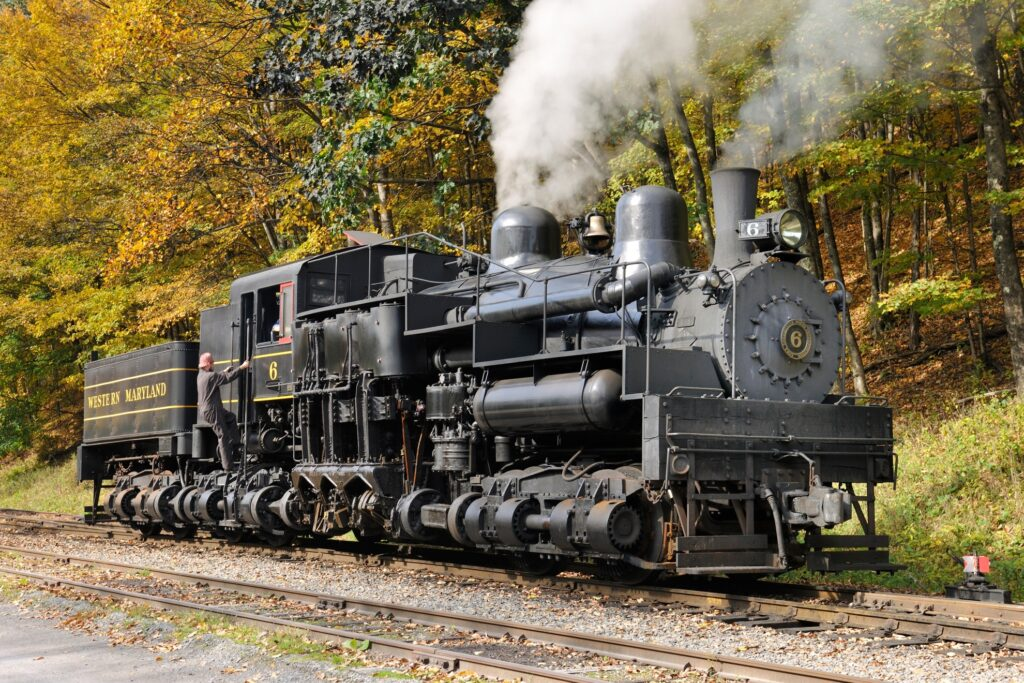 The Cass Scenic Railroad.