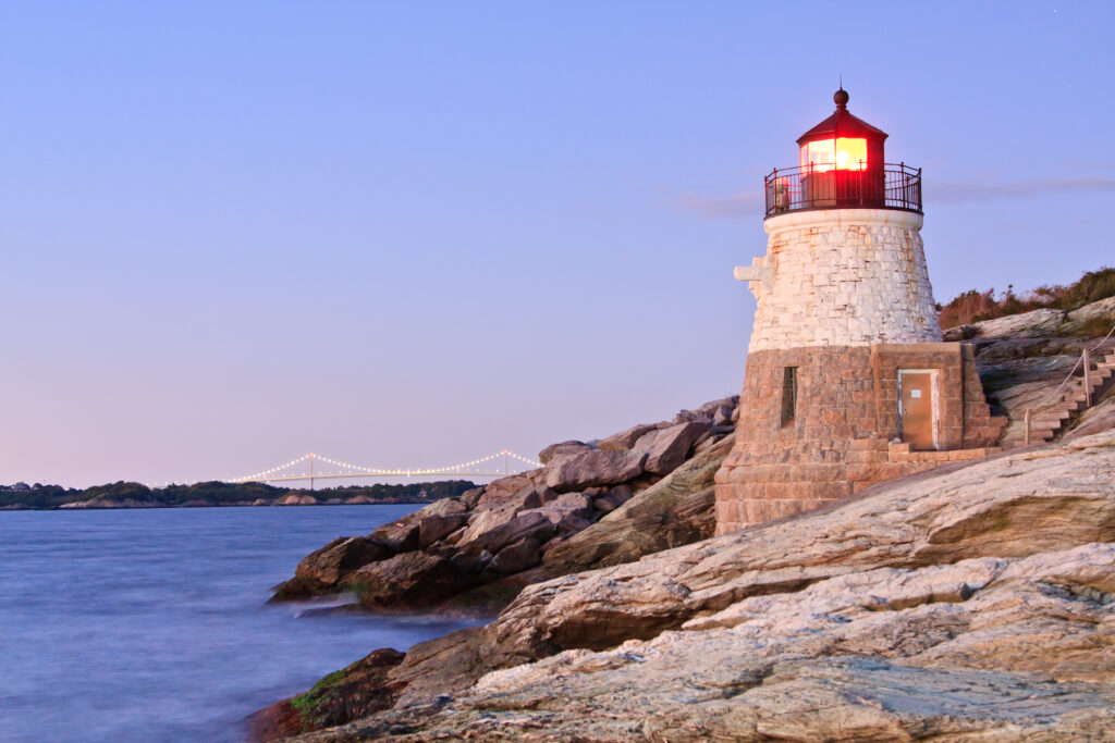 The Castle Hill Lighthouse in Rhode Island.