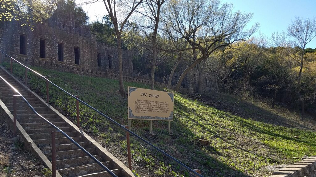 The castle ruins at Turner Falls Park, Oklahoma.