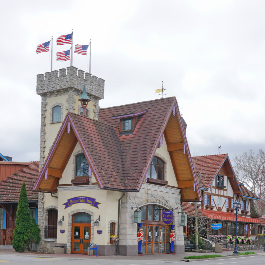 The Castle Shops in downtown Frankenmuth, Michigan.