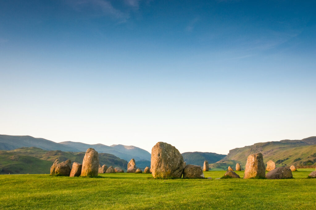 The Castlerigg Stone Circle in England's Lake District.