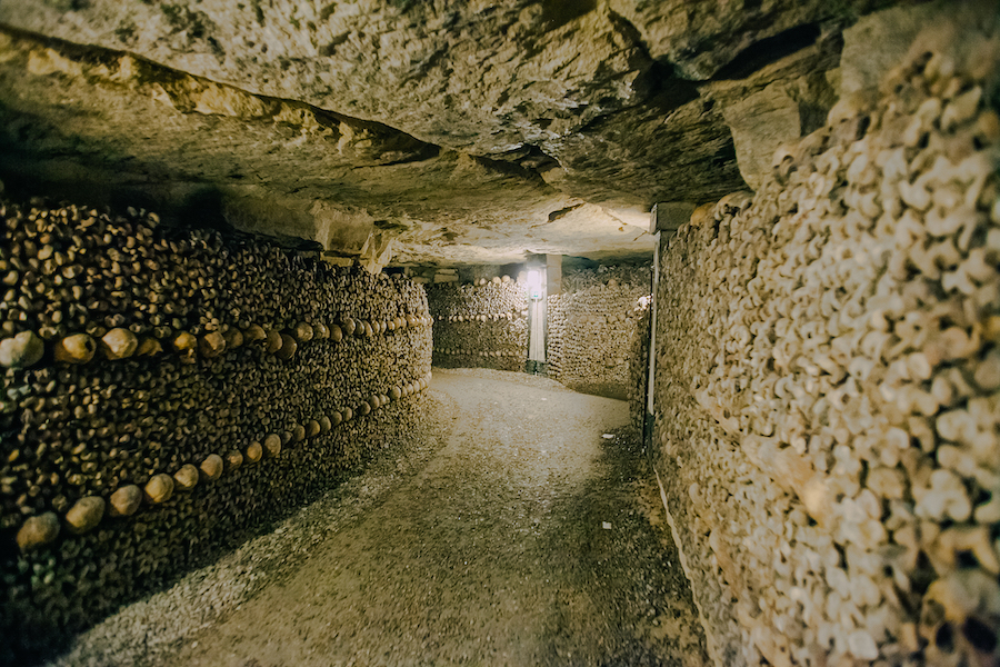 The Catacombs of Paris, France.