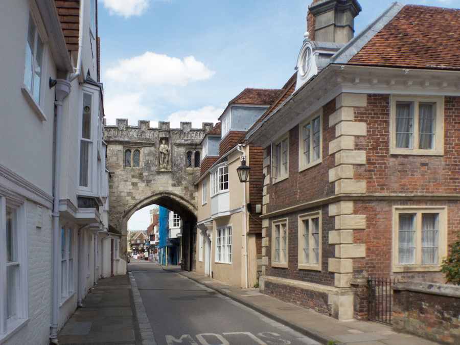 The Cathedral Close in Salisbury, England.
