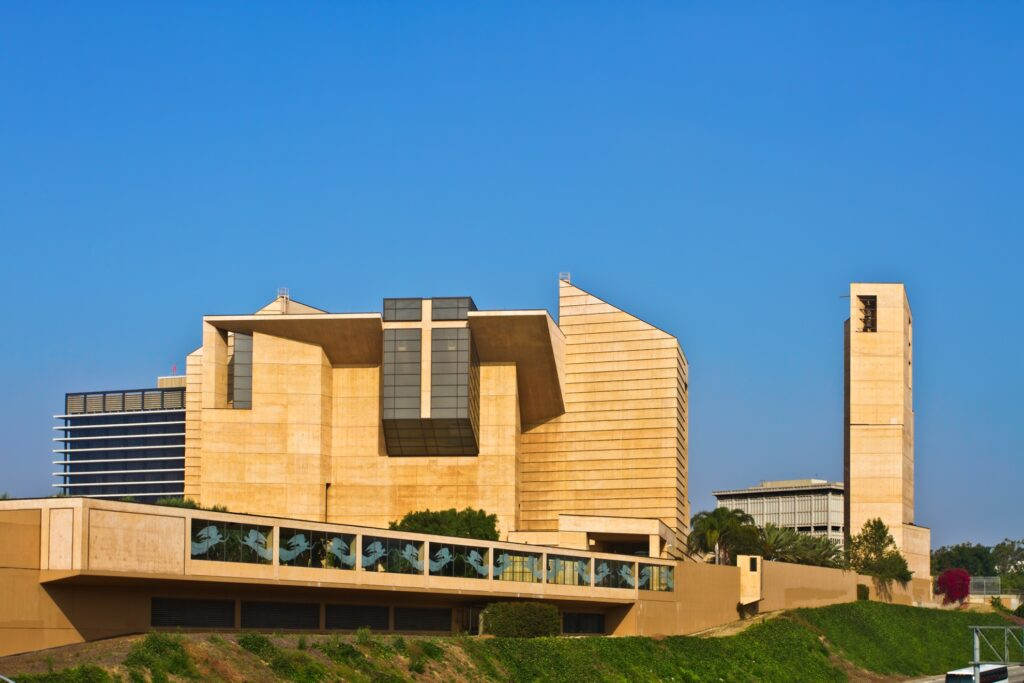 The Cathedral of Our Lady of the Angels.