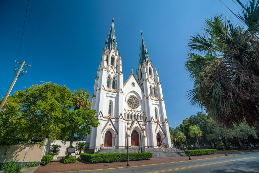 The Cathedral of St. John the Baptist in Savannah, Georgia.