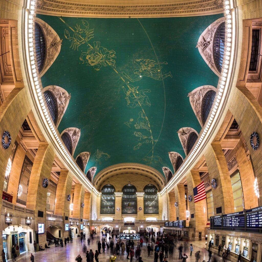 The celestial ceiling at New York's Grand Central Station.