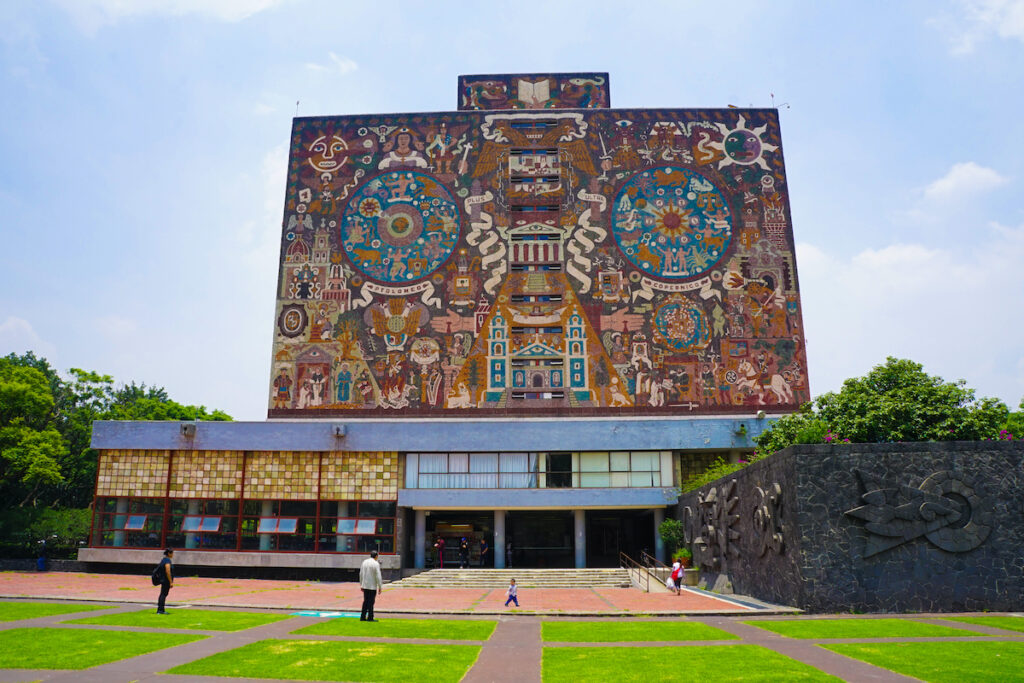 The Central Library at University City in Mexico City.