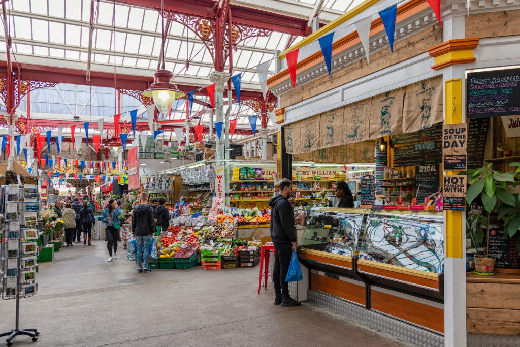 The Central Market in Saint Helier.