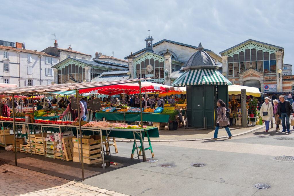 The Central Market of La Rochelle, France.