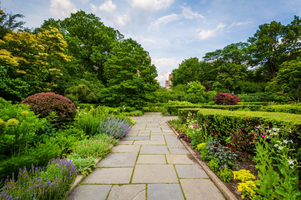 The Central Park Conservatory Garden in New York City.