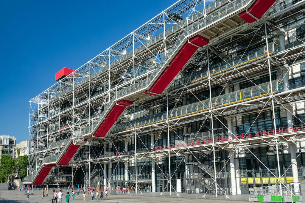 The Centre Pompidou in Paris, France.
