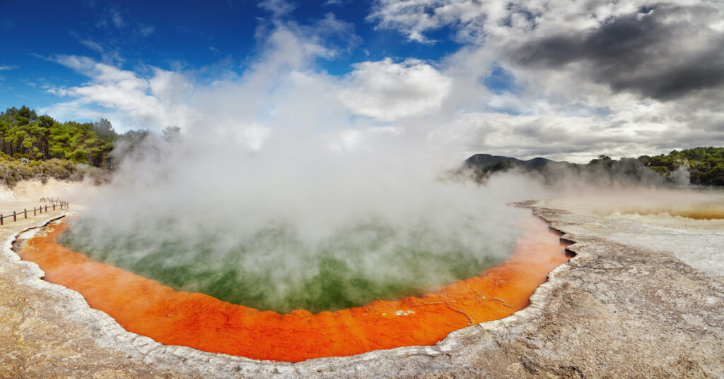 The Champagne Pool in New Zealand.