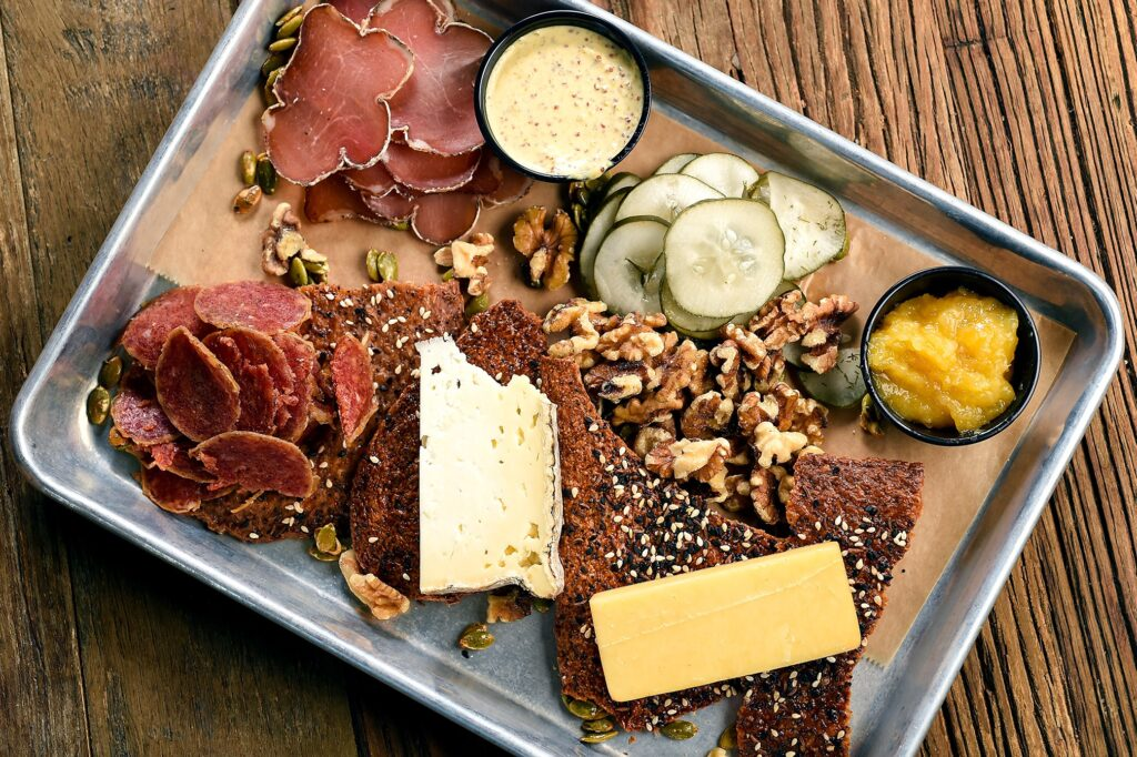 The charcuterie plate appetizer from Troegs Brewing Co.