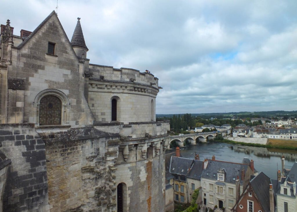The Chateau D'Amboise in Amboise, France.