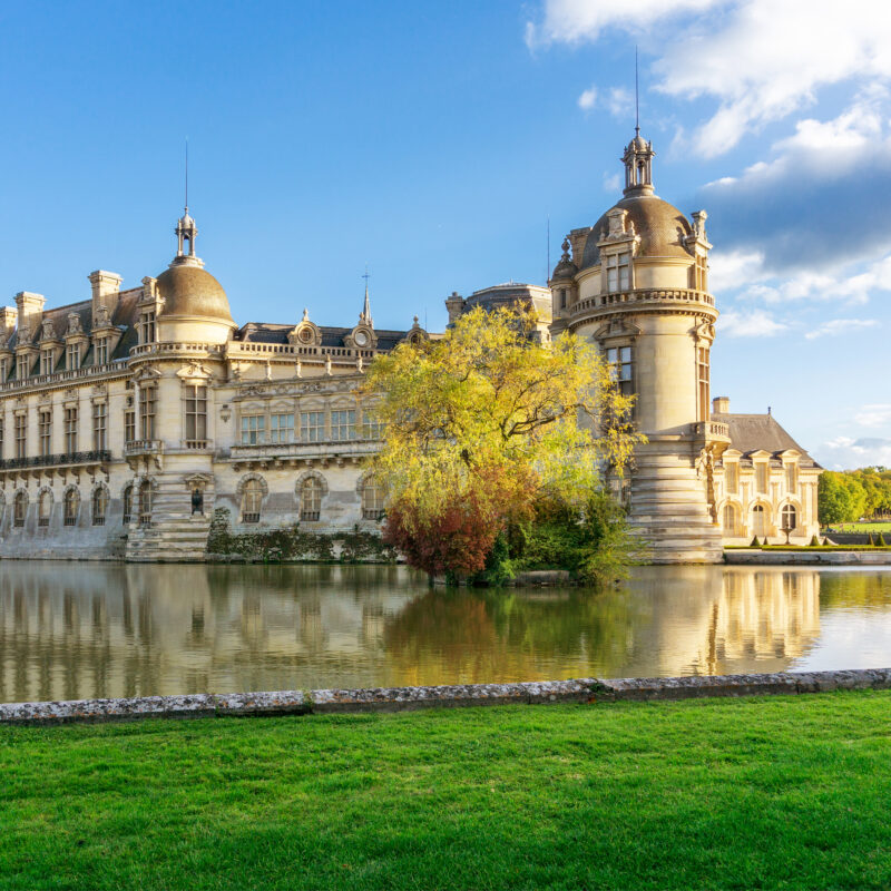 The Chateau de Chantilly in France.