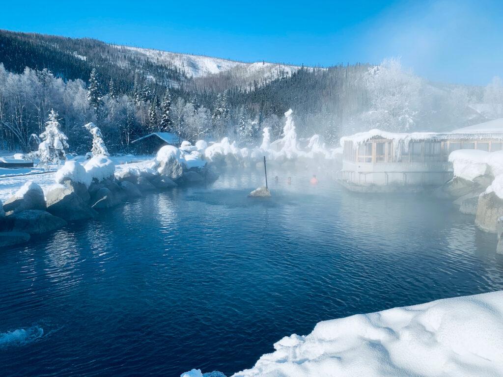 The Chena Hot Springs in Alaska.
