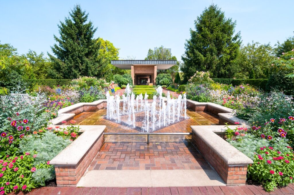The Chicago Botanic Garden in Glencoe, Illinois