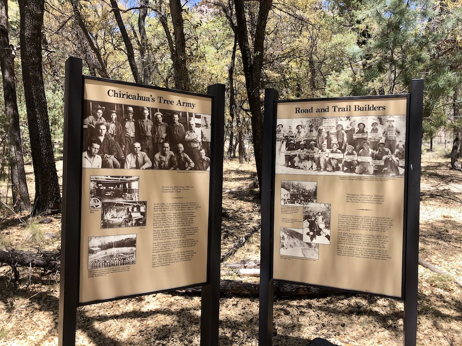 The Chiricahua National Monument in Arizona.