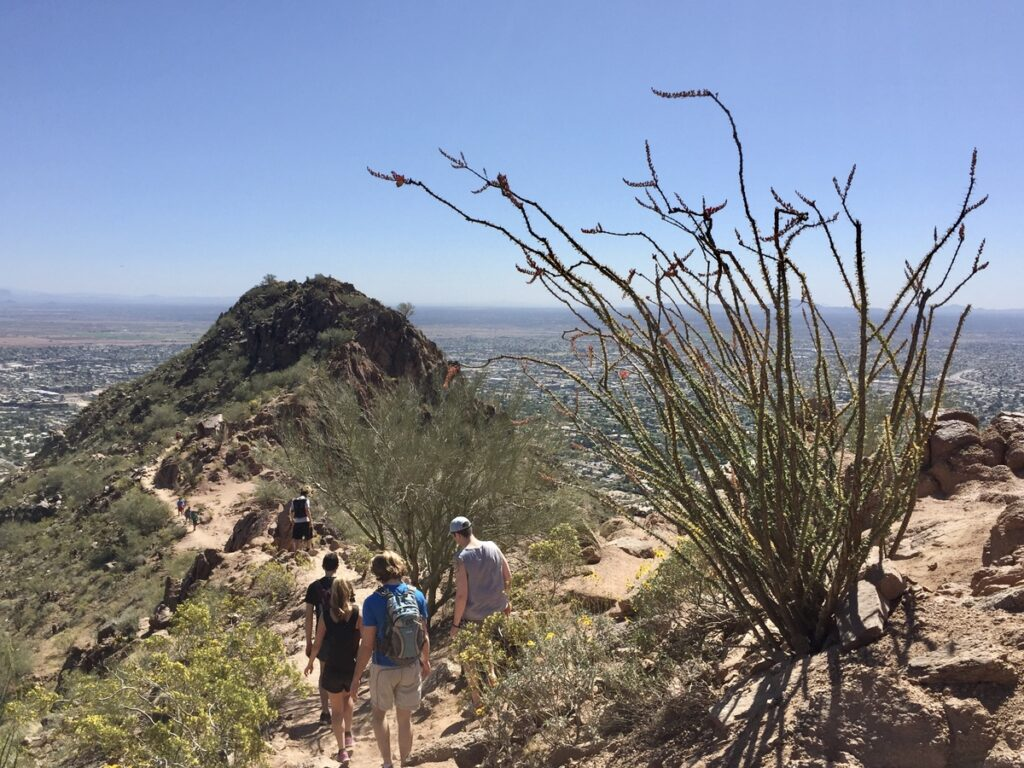 The Cholla Trail at Camelback Mountain in Arizona.