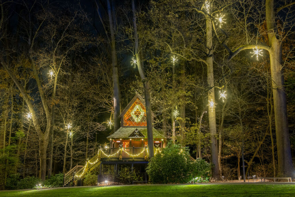 The Christmas Canopy Cathedral at Pennsylvania's Longwood Gardens.