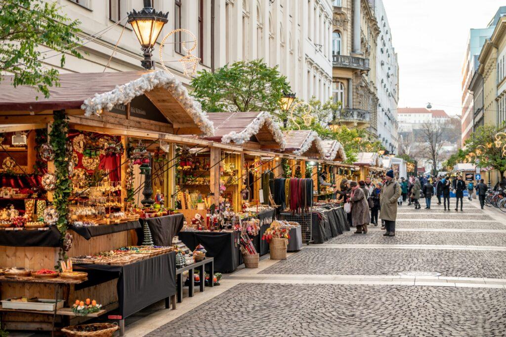 The Christmas Fair in Budapest, Hungary.