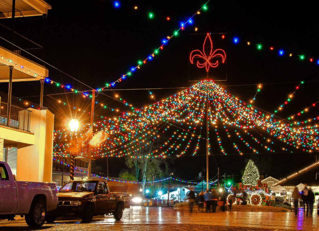 The Christmas festival in Natchitoches, Louisiana.