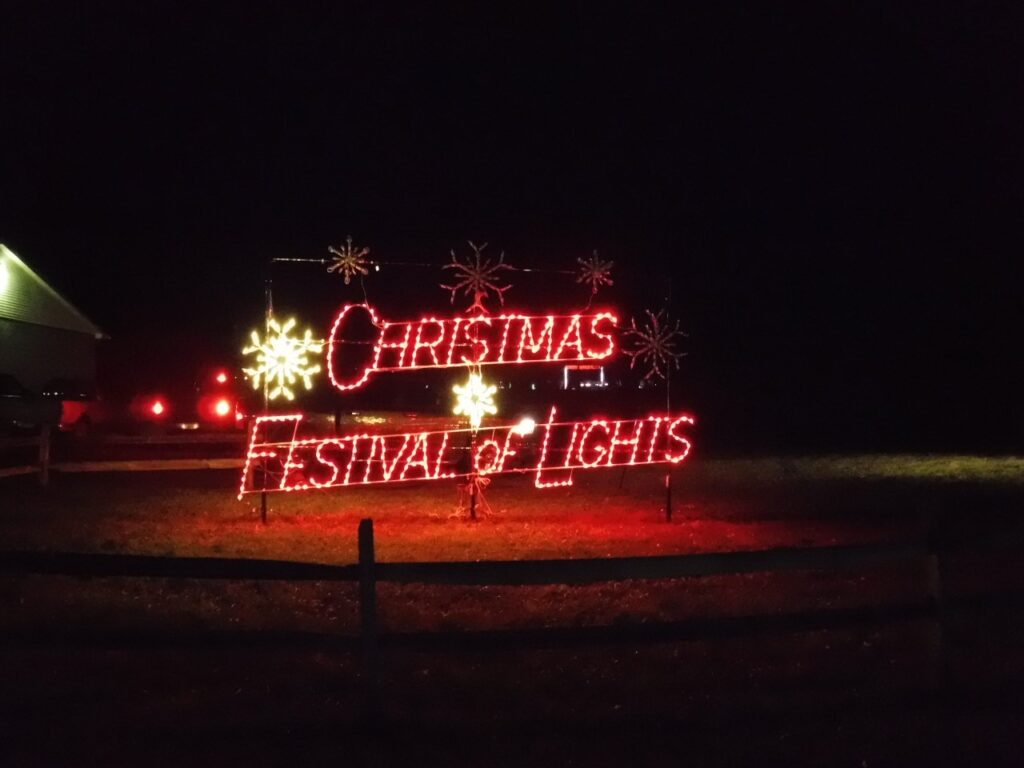 The Christmas Festival of Lights in Augusta, West Virginia.