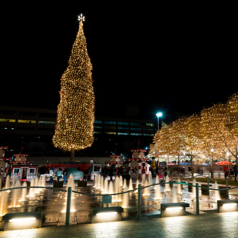 The Christmas tree at Crown Center in Kansas City.